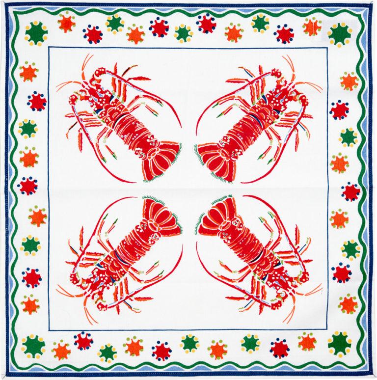 White Lobster Napkin