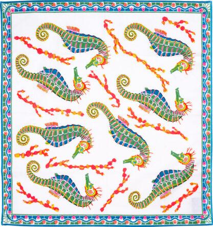 White Seahorse Napkin
