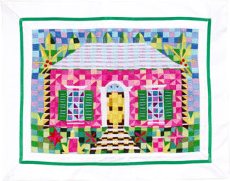 Quilted Pink Cottage Pillow Cover