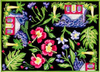 Black Cottage Placemat
