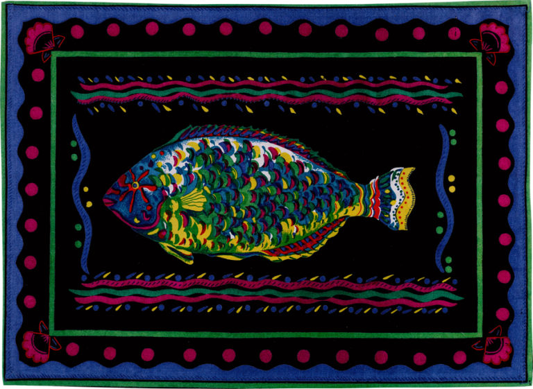 Black Parrot Fish Placemat