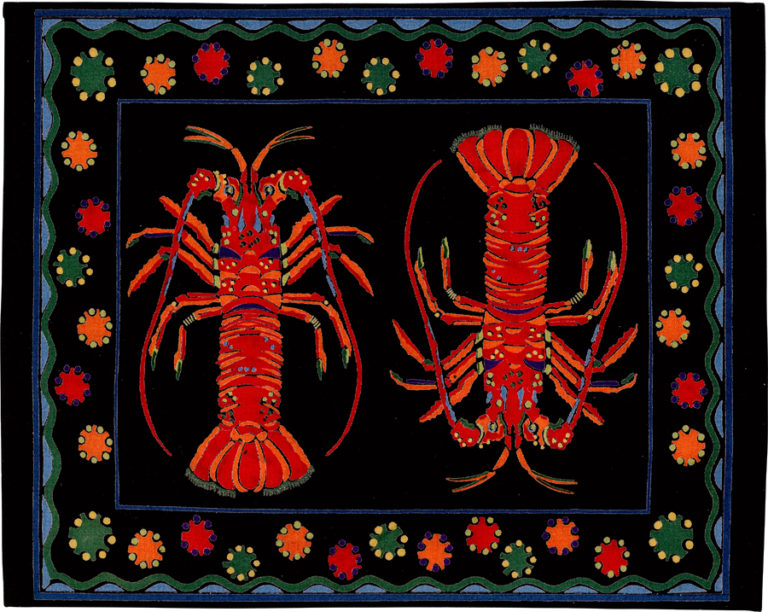 Black Lobster Placemat