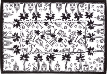 Black and White Buttery Placemat