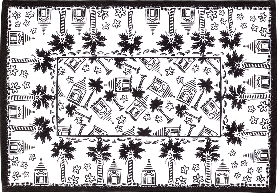 Black And White Ery Placemat