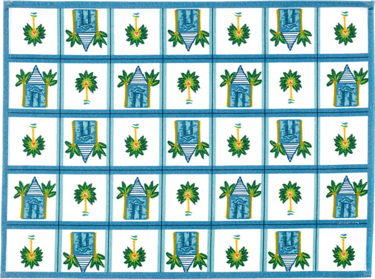 Blue Buttery Placemat