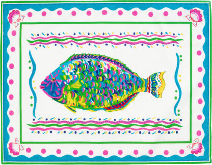 White Parrot Fish Placemat