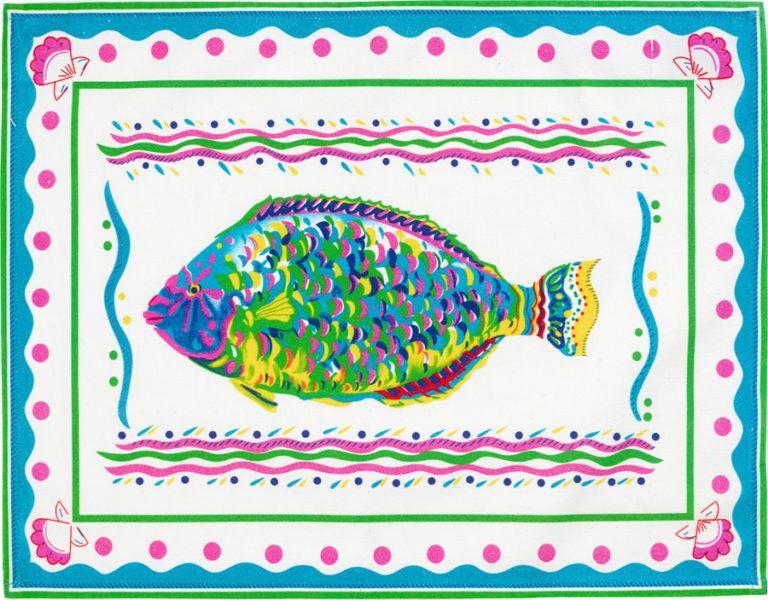 White Parrot Fish Placemat