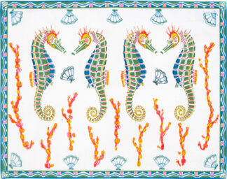 White Seahore Placemat