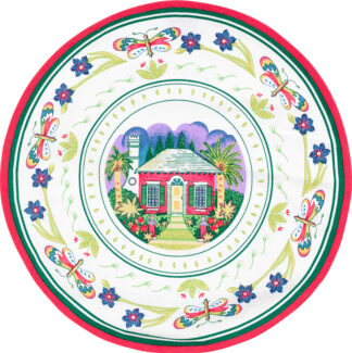 Round Butteryfly Cottage Placemat