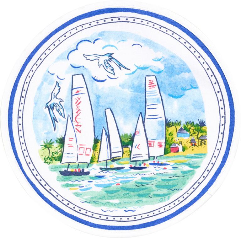 Round Sailing Bermuda Placemat