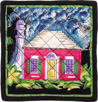 Black Cottage Set of 2 Potholders