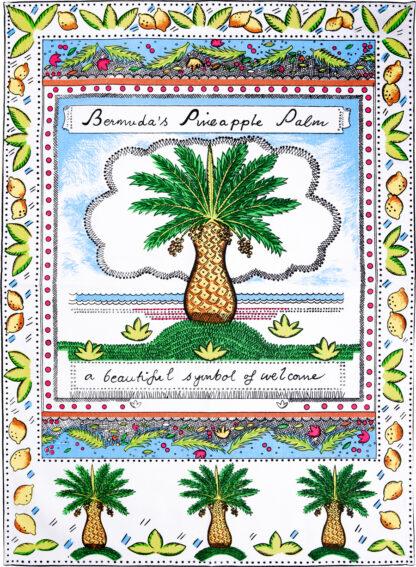 Palm Tree Tea Towel