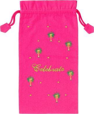 Celebrate Wine Bag in Pink