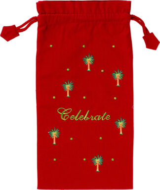 Celebrate Wine Bag in Red