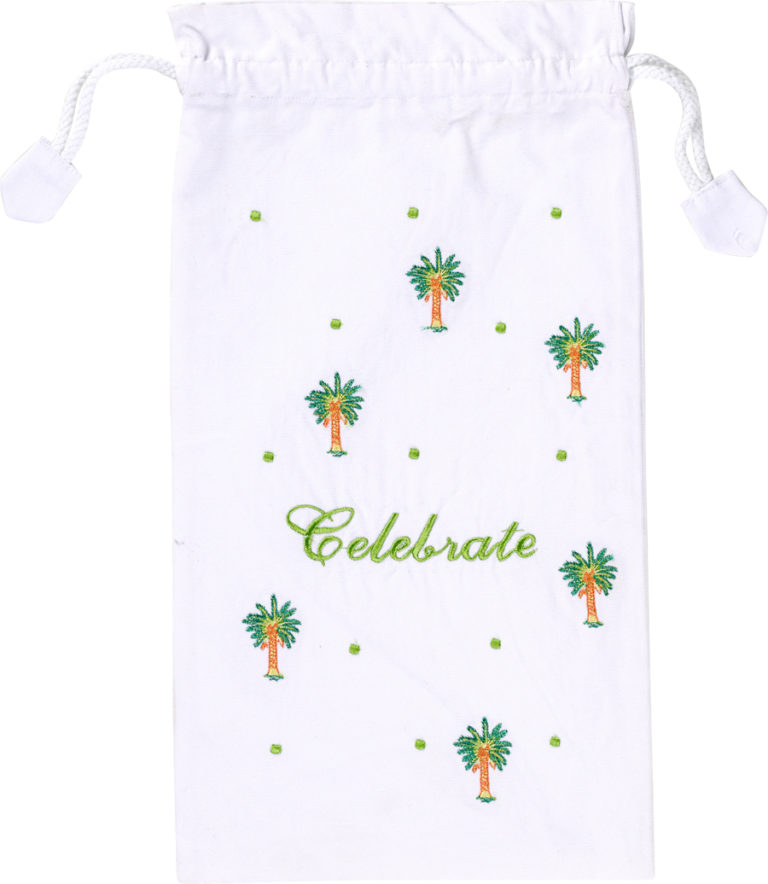 Celebrate Wine Bag in White