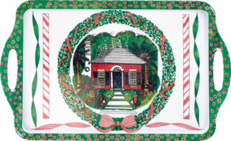Christmas Cottage Melamine Tray