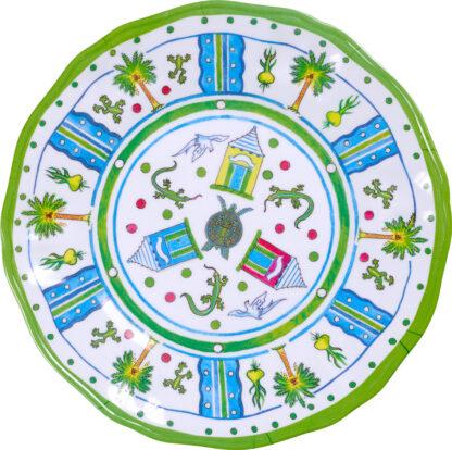 Melamine Medely Lime Dinner Plate