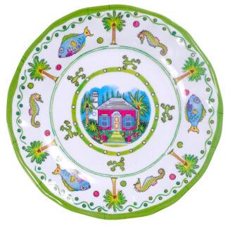 Melamine Lime Salad Plate