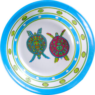 Melamine Blue Turtle Soup Bowl