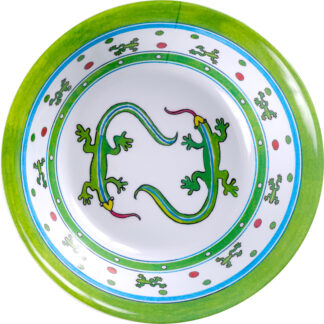 Melamine Lizard Lime Soup Bowl