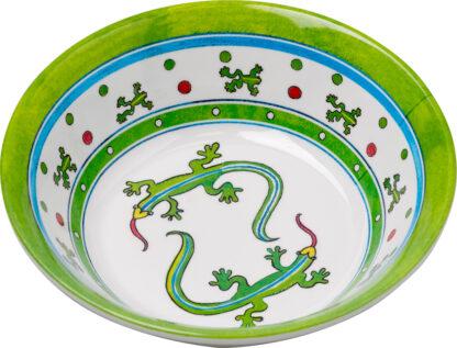 Melamine Lizard Lime Soup Bowl