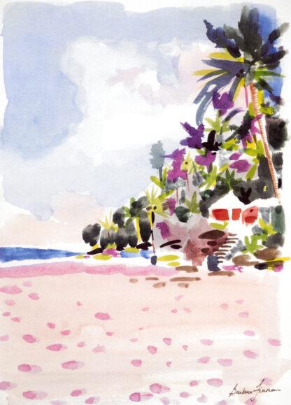 Coral Beach Beach Hut Print