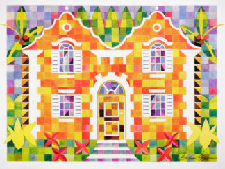 Orange Cottage Quilted Print