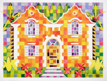 Orange Cottage Quilted Print