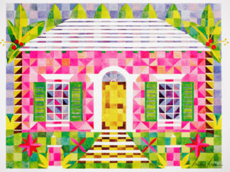 Pink Cottage Quilted Print