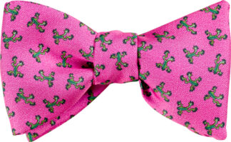 Pink Tree Frog Bow Tie