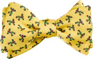 Yellow Tree Frog Bow Tie
