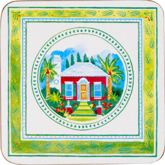 Bermuda Cottage Set of 4 Cork Back Coasters