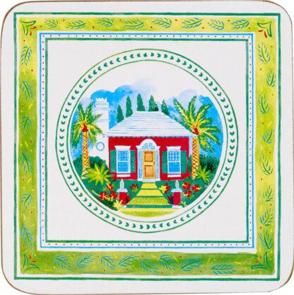 Bermuda Cottage Set of 4 Cork Back Coasters
