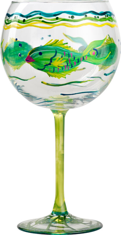 Parrot Fish Red Wine Glass