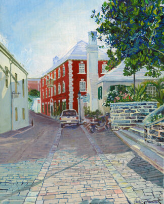 Water Street, St. George's Canvas Print