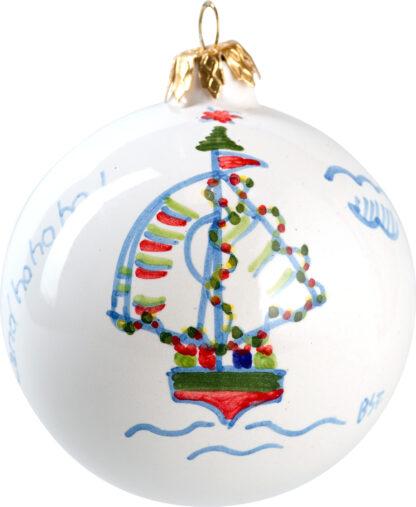 Ceramics Christmas Dinghy Ball