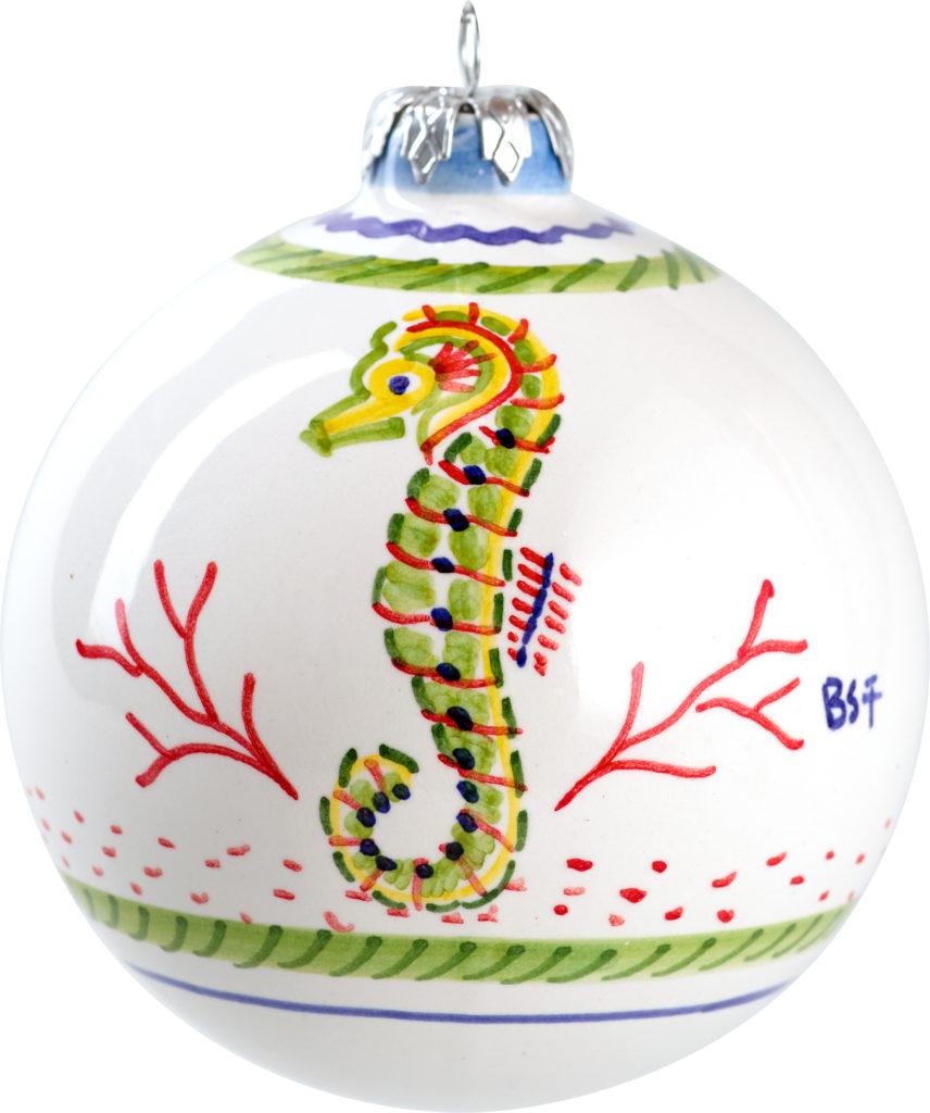 seahorse christmas ball ornament island exports - Seahorse Christmas Ornament