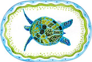 Ceramics Oval Platter Turtle