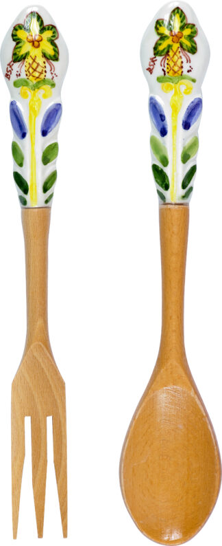 Ceramics Salad Servers Palm