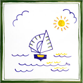 Ceramics Tiles Medium Dinghy