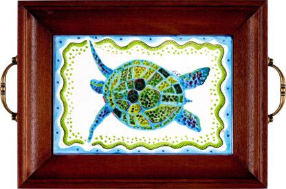 Wood Framed Turtle Tray