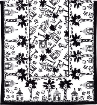 Black and White Buttery Table Runner
