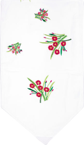 Oleander Embroidered Table Runner