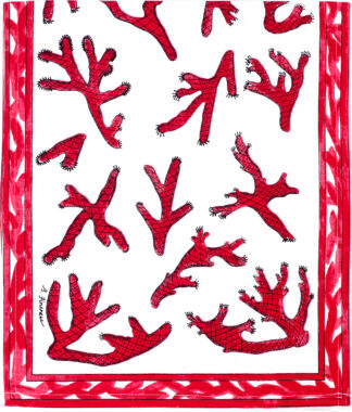 Red Coral Table Runner