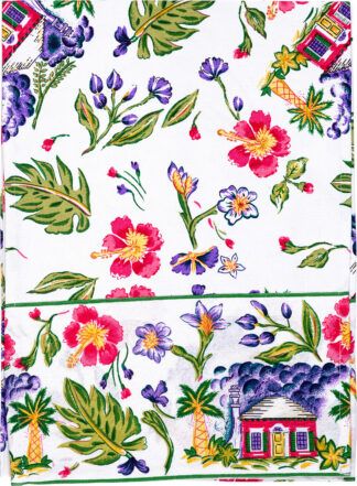White Cottage Table Runner
