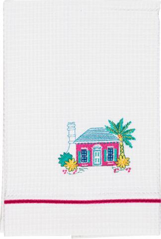 Bermuda Cottage Waffle Towel