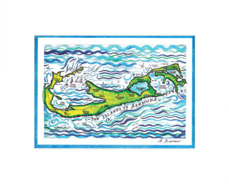 Bermuda Islands Matted Print