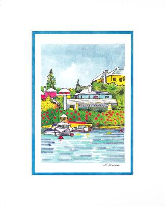 Bermuda Islands Matted Print