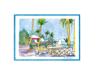 Down to Coral Beach Matted Print