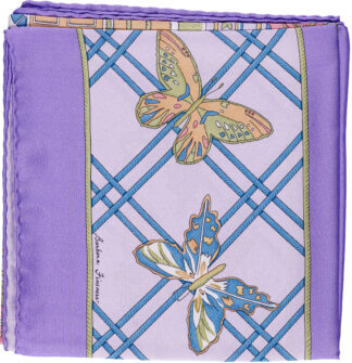 Periwinkle Bermuda Butterly Scarf in Italian Silk